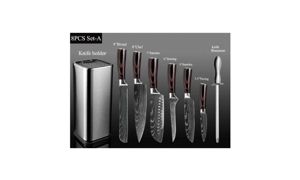 Set de cuchillos de cocina Santoku